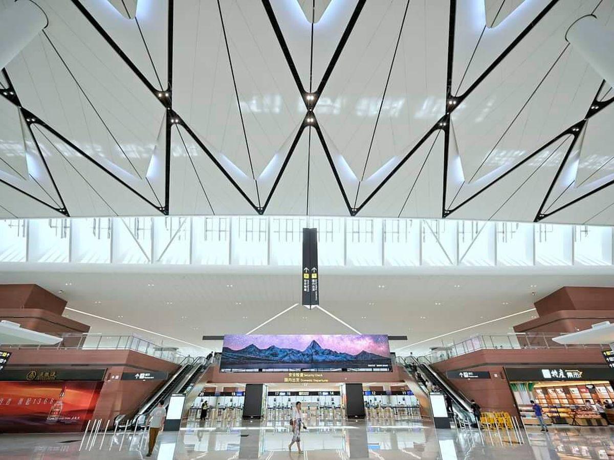 Foto: Por este nuevo aeropuerto llegarán a pasar en el futuro 120 millones de personas anualmente (Twitter)