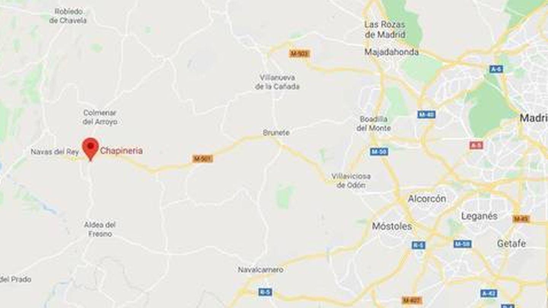 Localización del madrileño pueblo de Chapinería. (Google Maps)