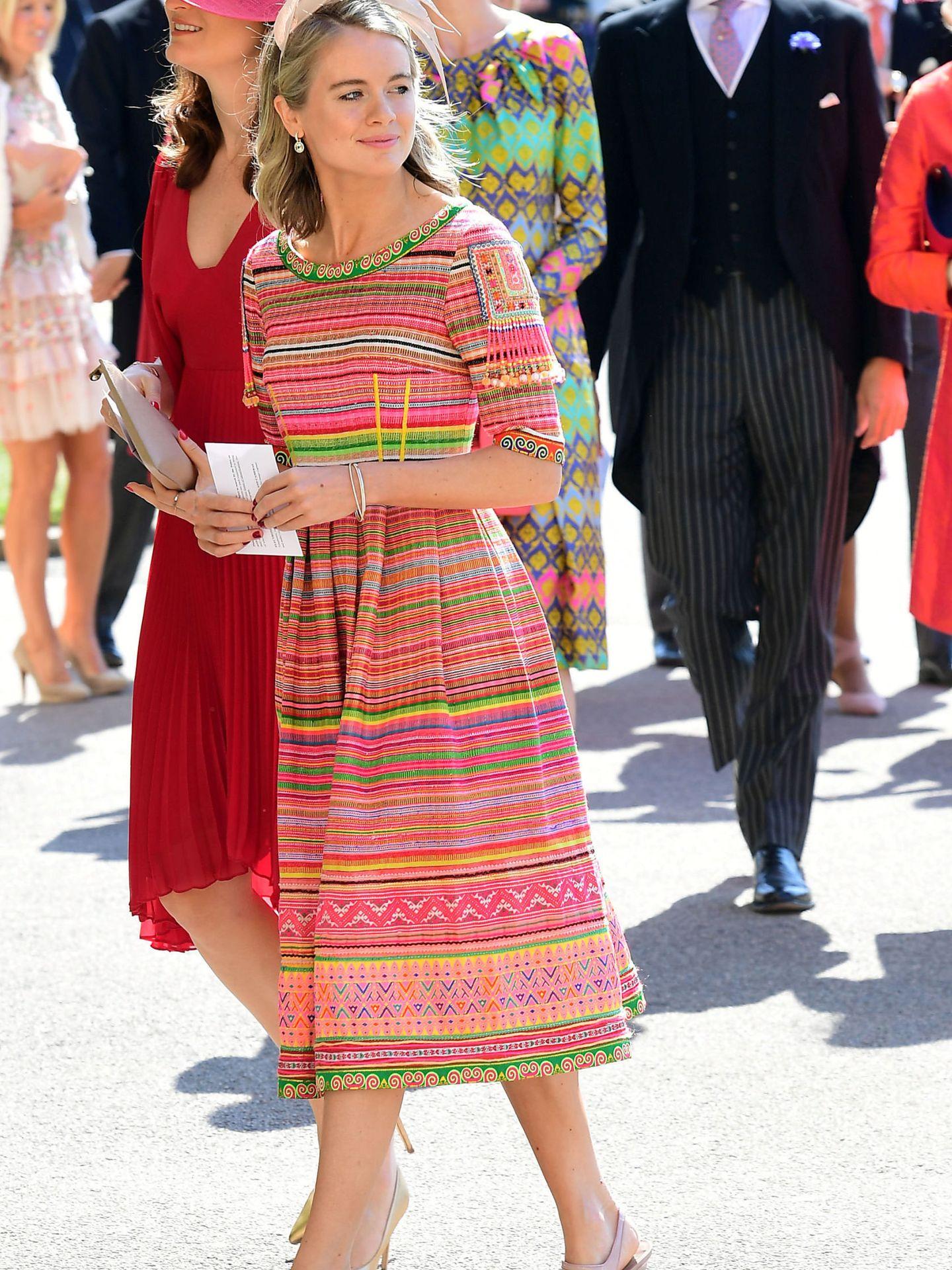 Cressida Bonas, en la boda del príncipe Harry y Meghan Markle. (Reuters)