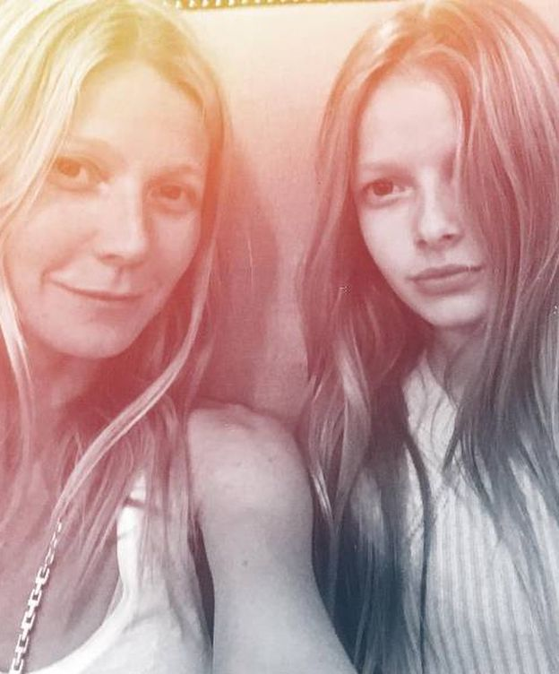 Foto: Gwyneth y su hija en una foto de Instagram