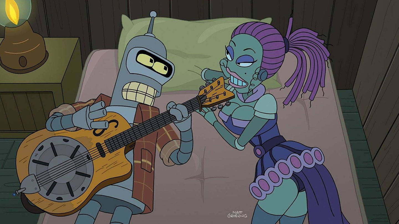 Bender y una roboprostituta.