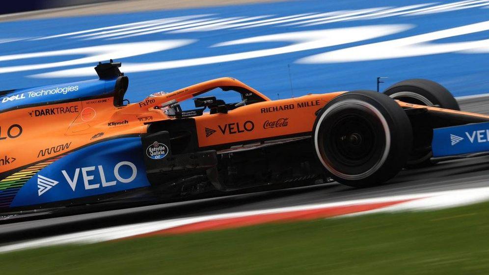 Foto: Carlos Sainz pudo haber aspirado al podio de haber logrado adelantar a Norris, que mereció su primer cajón de la F1(MCLAREN)