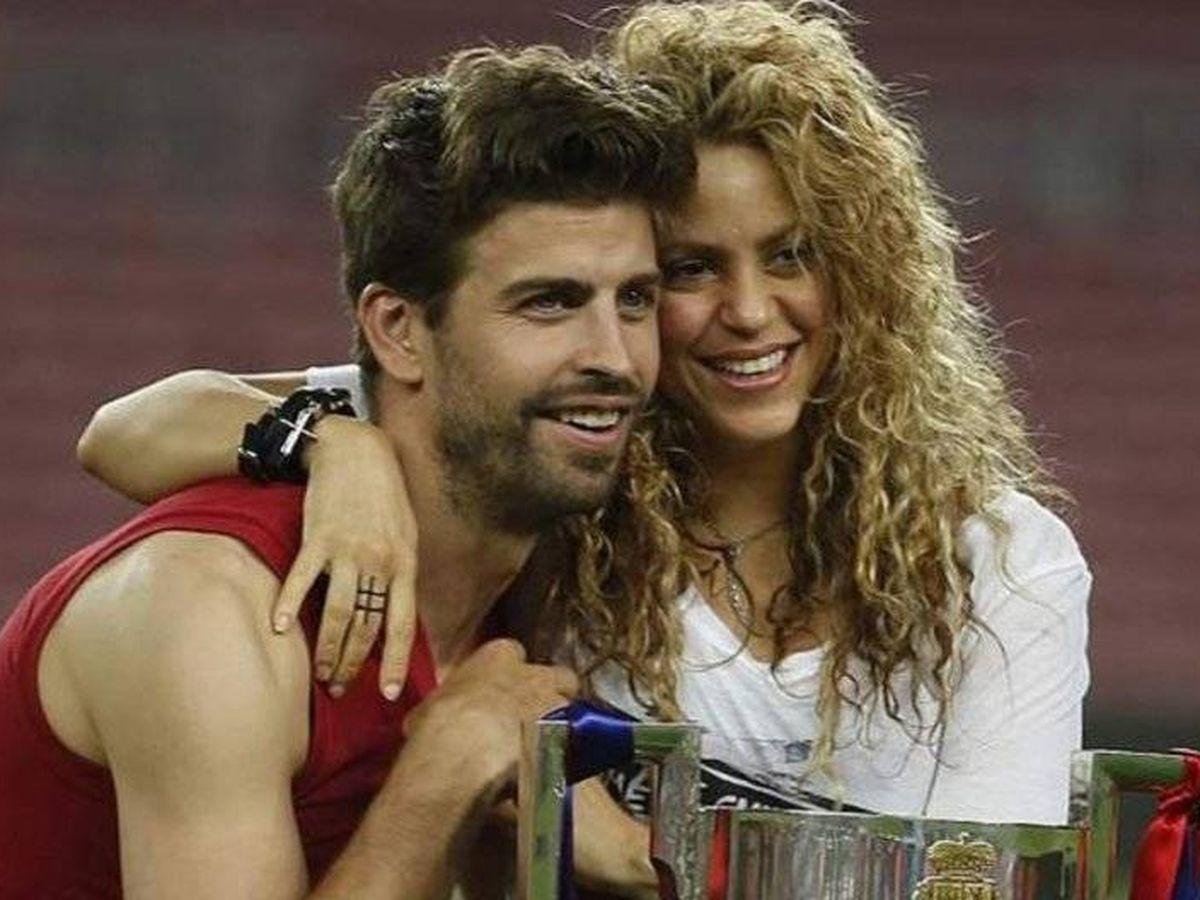 Foto: Piqué y Shakira celebran un título del Barcelona. (EFE)