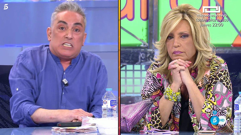 Kiko Hernández y Lydia Lozano, en 'Sálvame'. (Telecinco)