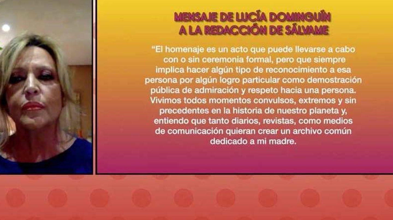 Lydia Lozano, en 'Sálvame'. (Mediaset España)