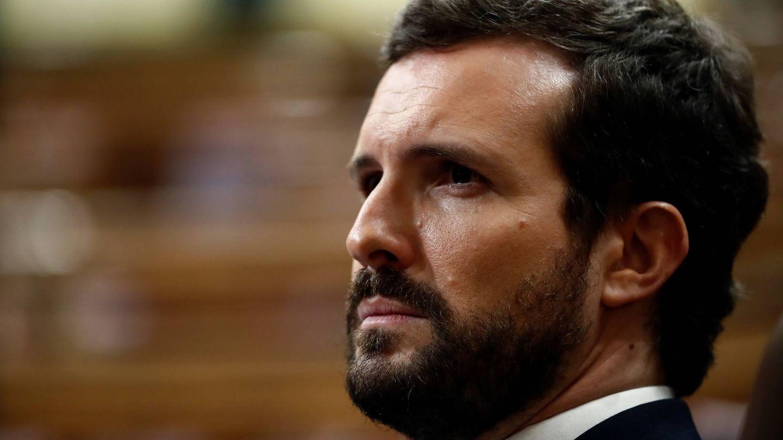 Pablo Casado, con barba y cabello más oscuros en 2020. (Getty)