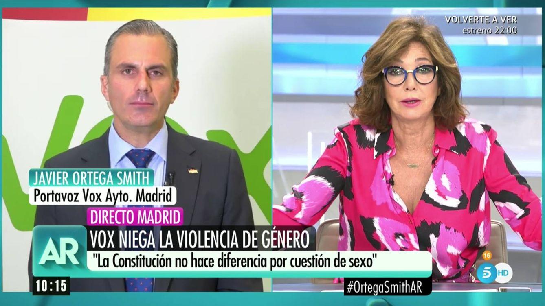 Ana Rosa Quintana se encara y desacredita a Javier Ortega Smith (Vox)