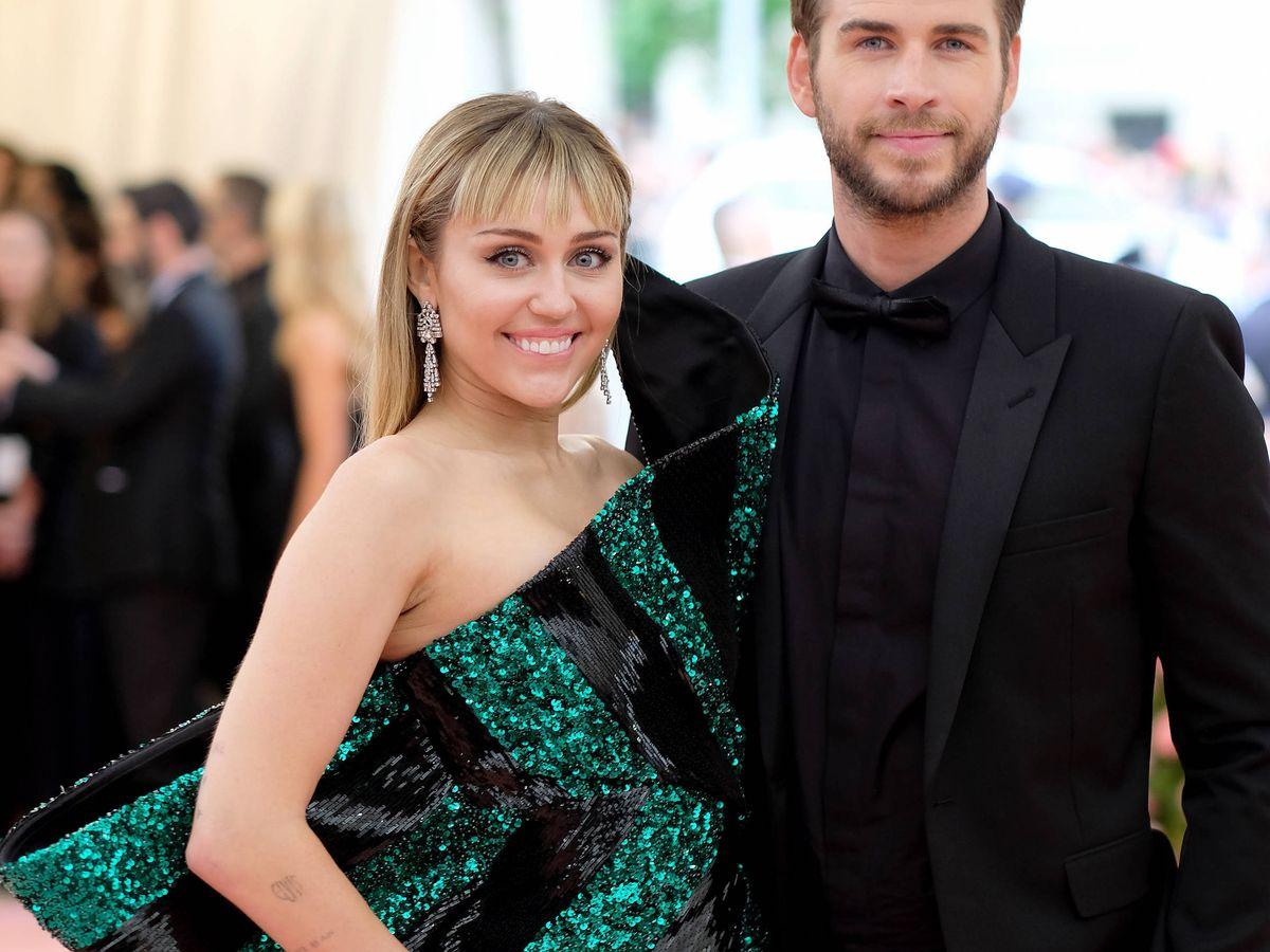 Foto:  Miley Cyrus y Liam Hemsworth. (Getty)