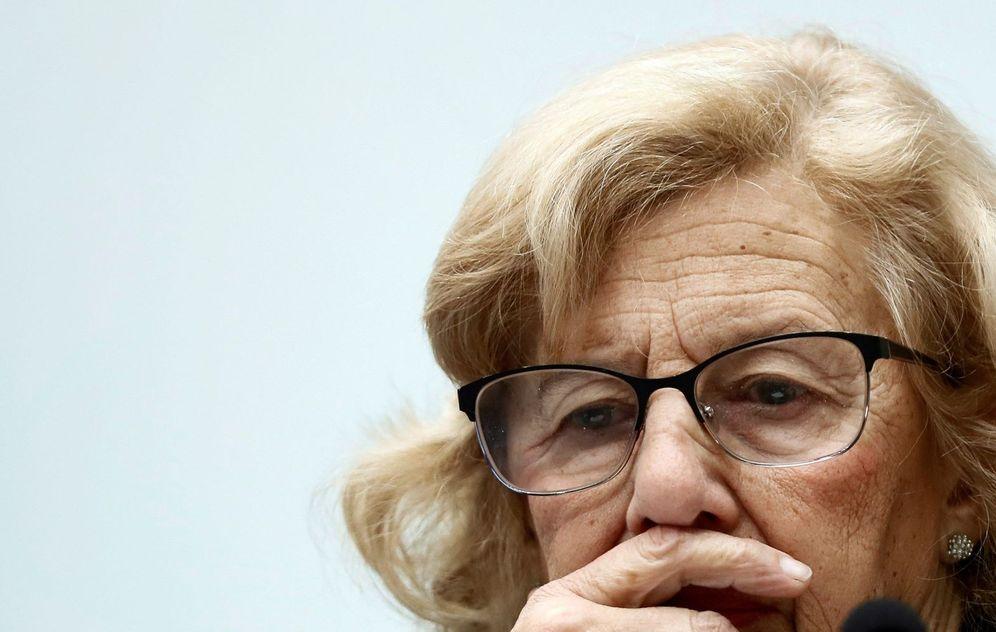 Foto: La alcaldesa de la ciudad de Madrid, Manuela Carmena, durante el pleno municipal. (EFE)