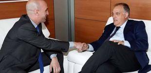 Post de El alto el fuego de Rubiales y Tebas y el histórico pacto del fútbol español