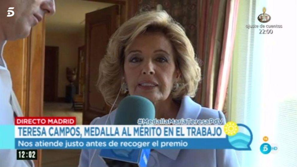 Teresa Campos regresa a la tele tras recibir la Medalla al Mérito en el Trabajo