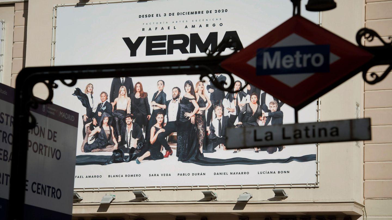 Vista de la fachada del Teatro La Latina. (EFE)