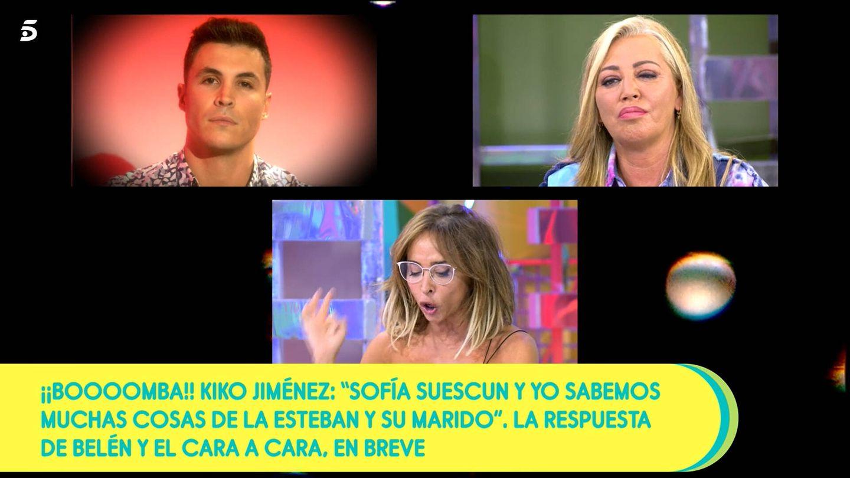 Kiko Jiménez, Belén Esteban y María Patiño. (Mediaset)