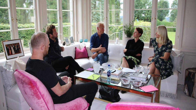 Mette-Marit, en una reunión en Skaugum. (Heiko Junge, Scanpix / Casa Real)
