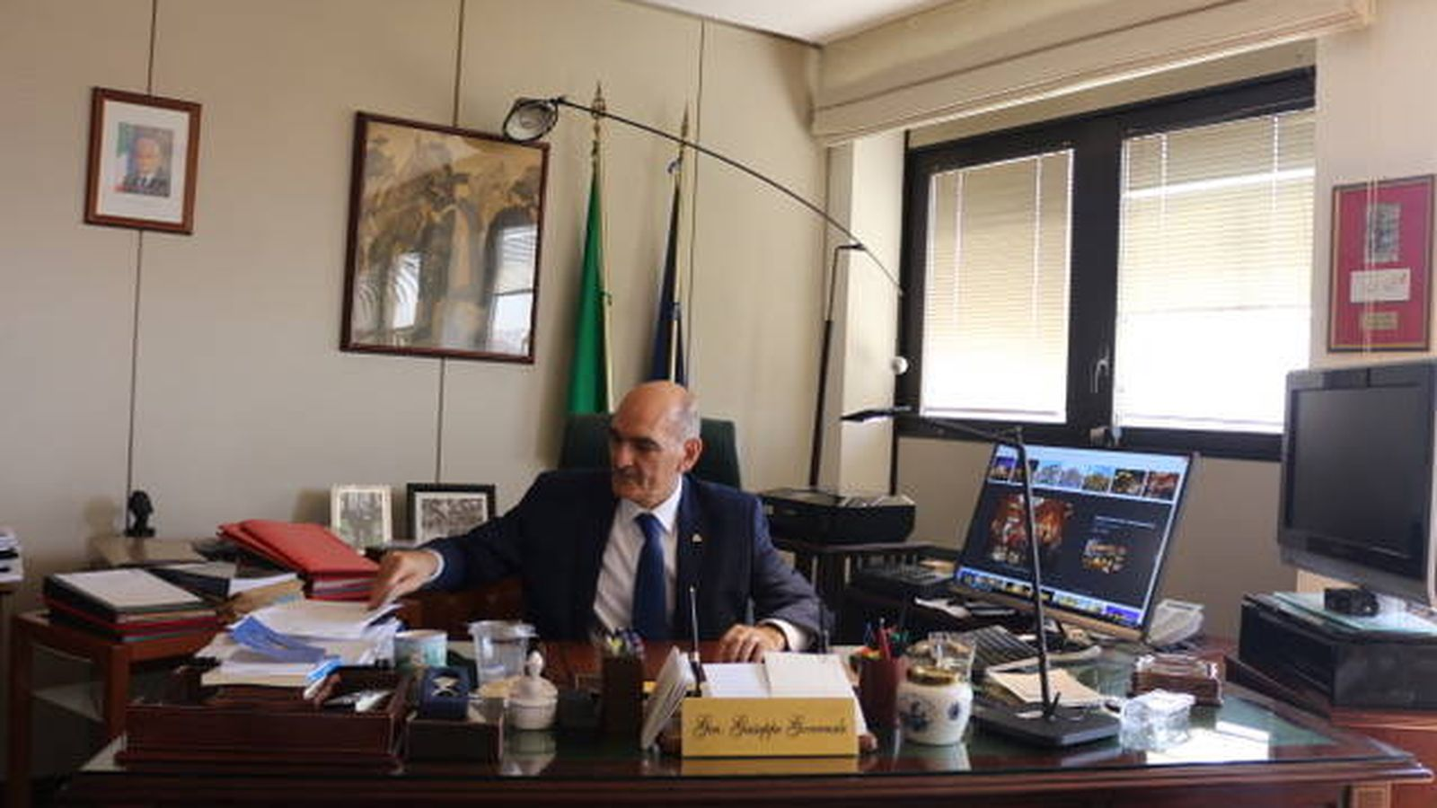 Foto: El general Giuseppe Governale, jefe de las unidades de élite de la antimafia de Italia. (Foto: I. Savio)