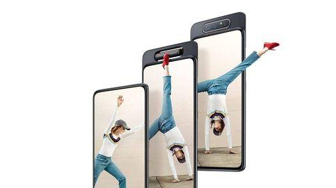 Samsung Galaxy A80: el móvil que voltea su cámara trasera para que sea la delantera