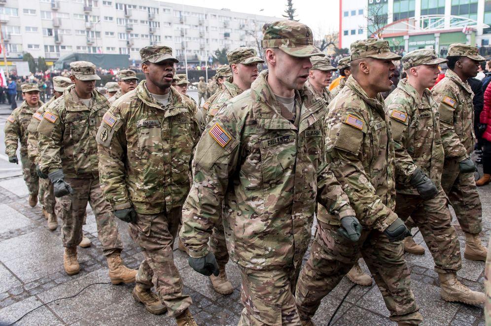 Foto: Soldados estadounidenses desplegados en Polonia, el pasado 5 de febrero
