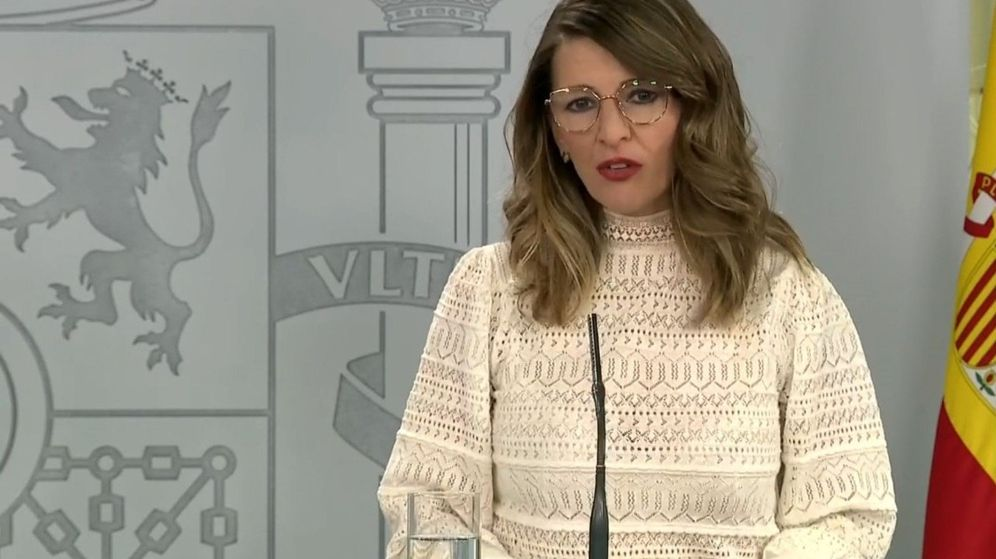 Foto: La ministra de Yolanda Díaz. (EFE)
