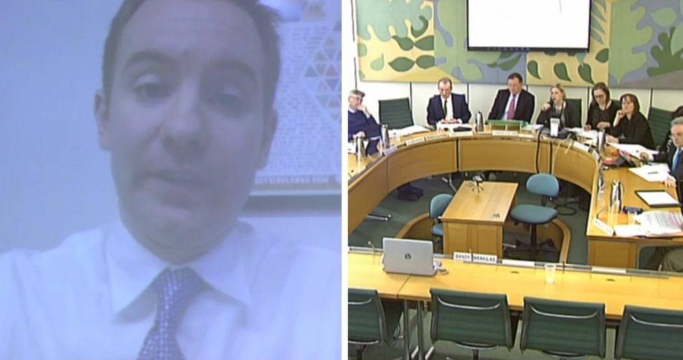 Foto: Sandy Parakilas (izq.), durante su intervención en la Cámara de los Comunes para testificar sobre el escándalo de Cambridge Analytica.