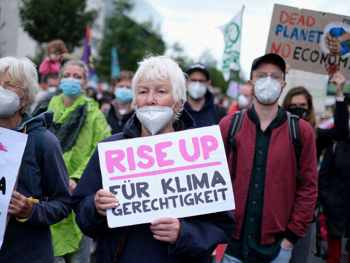 Foto: Manifestación ciudadana en Berlin para exigir más acción climática. (Reuters)