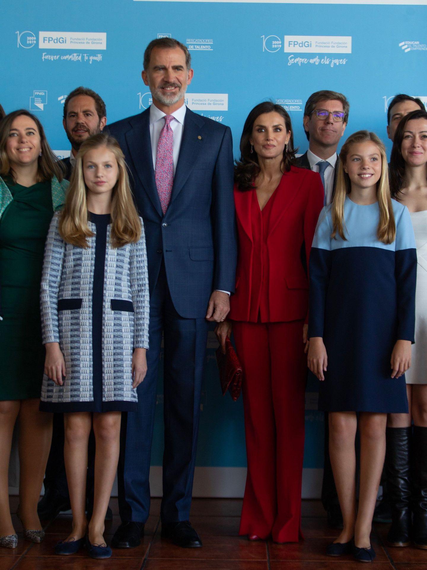 Los Reyes y sus hijas, en los Premios Princesa de Girona de 2019. (EFE)