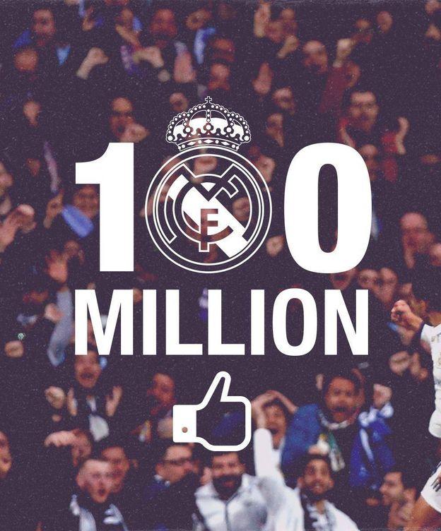 Foto: El Madrid celebró su victoria en la lucha por alcanzar los 100 millones. (Real Madrid)