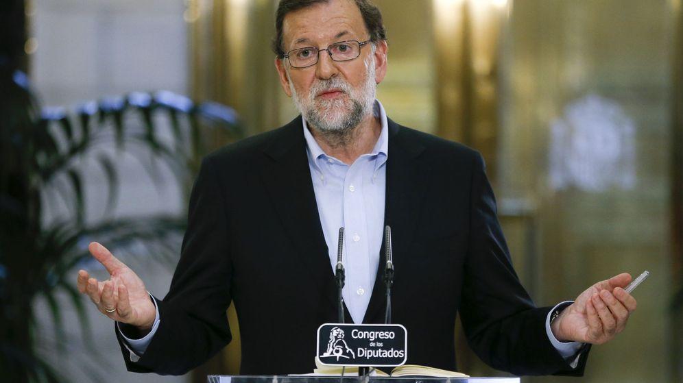 Foto: Mariano Rajoy, durante su rueda de prensa. (EFE)