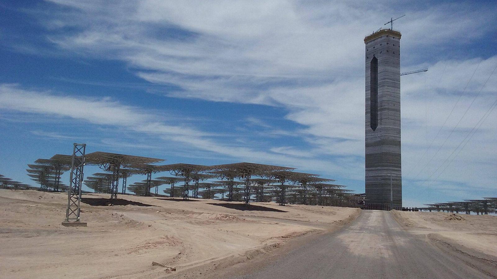 Foto: Obras en la central de Atacama en 2016. (Foto: Cerro Dominador)