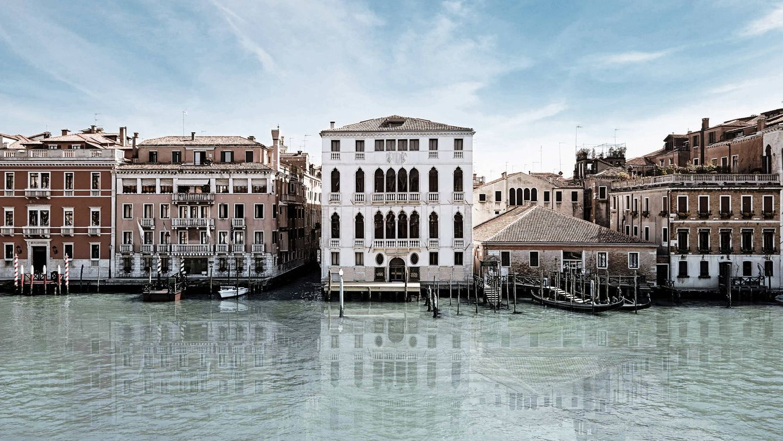 Foto: Vista sobre el Gran Canal de Venecia desde las ventanas del palacio.