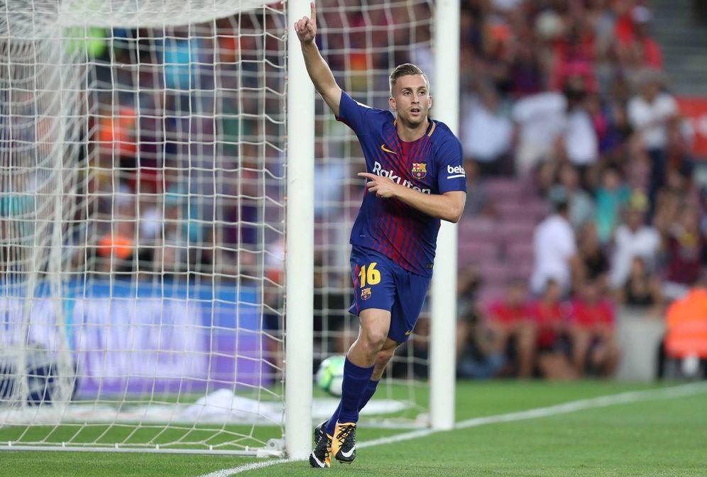 Foto: Deulofeu celebra el gol marcado ante el Chapecoense en el Joan Gamper. (Cordon Press)