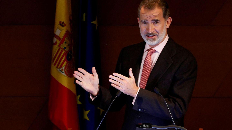 El rey Felipe, durante su discurso. (EFE)
