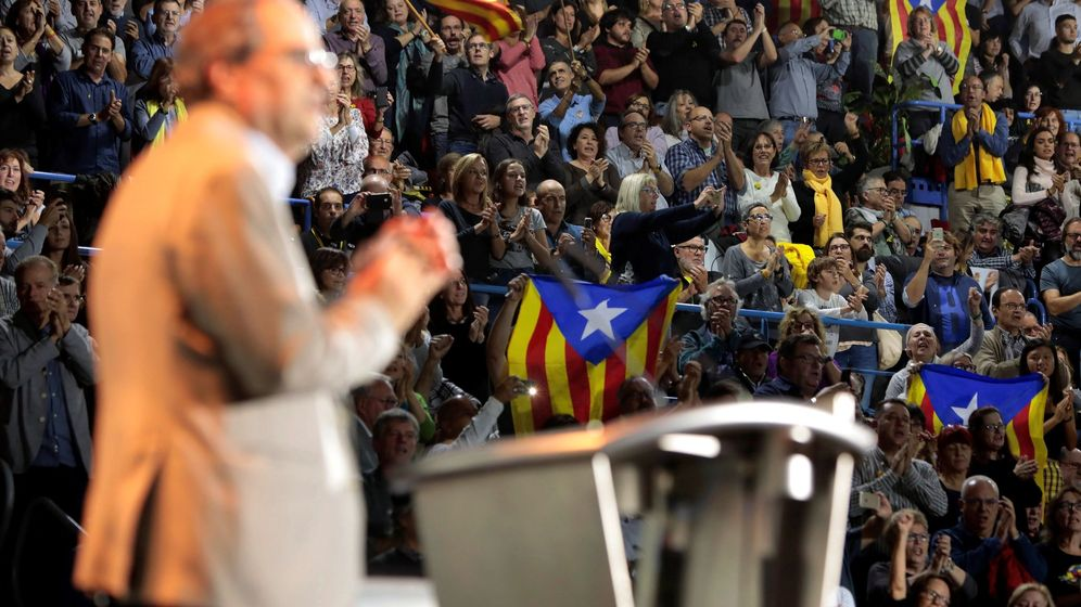 Foto: El presidente de la Generalitat, Quim Torra, interviene en la convención fundacional el sábado. (EFE)