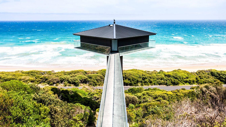 Vivir sobre un poste: así es The Pole House, la casa más exótica de Australia
