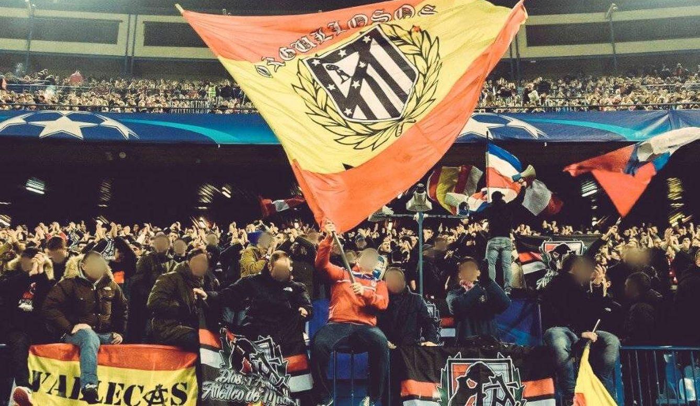 Imagen de esta temporada del Frente Atlético en el Vicente Calderón.