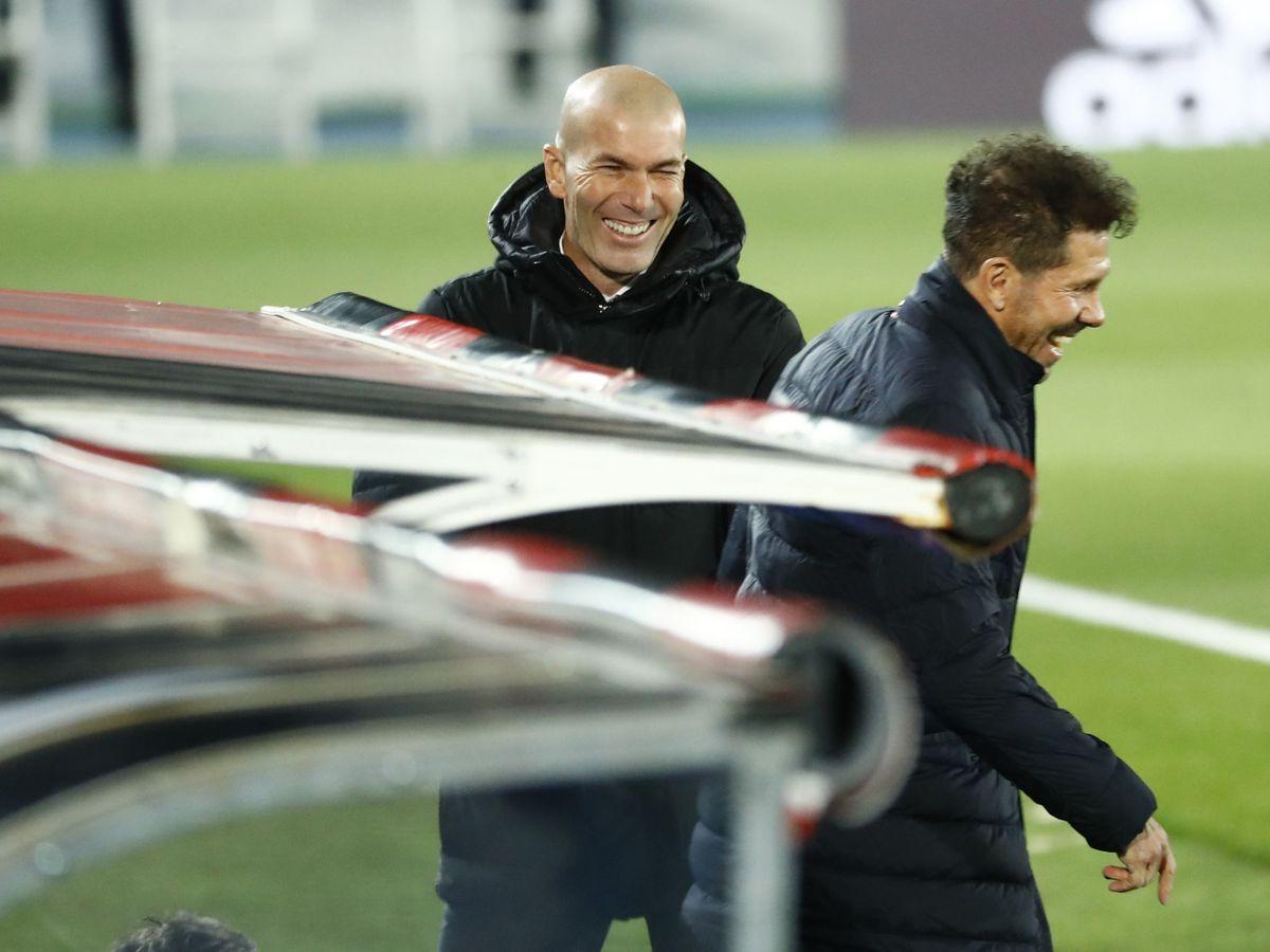 Foto: Zidane y Simeone, antes del partido. (Reuters)