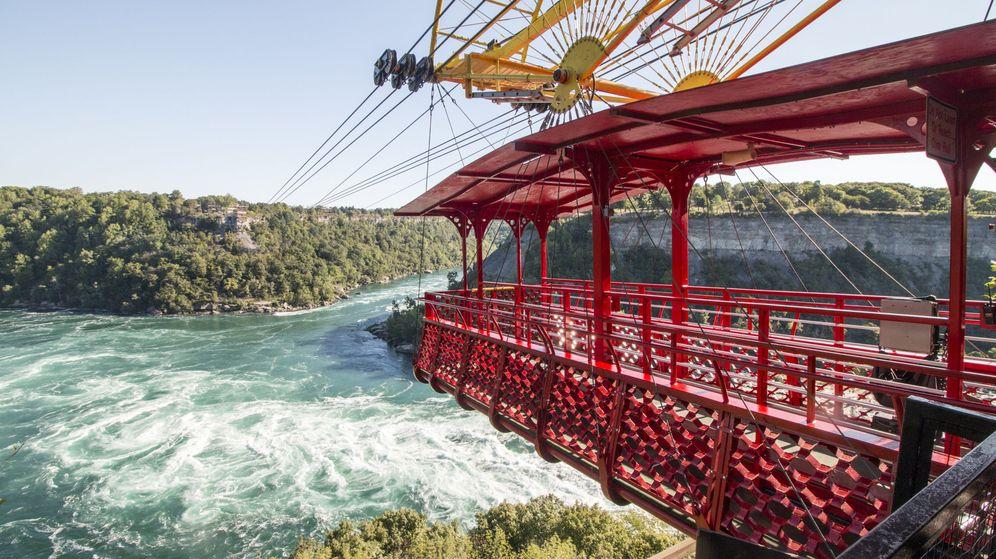 Foto: El funicular español sobre el Niágara aguanta 100 años después de su construcción.