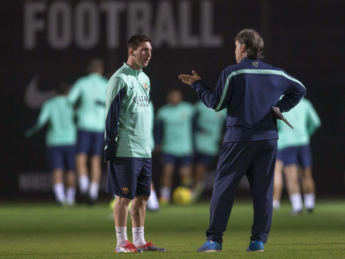 """Foto: Martino llegó a decirle a Messi que ya sabía que era """"el puto amo"""", que no tenía que demostrarlo a diario. (EFE)"""