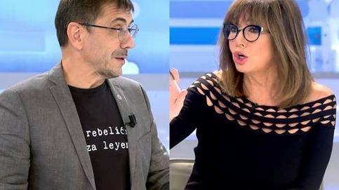 Ana Rosa se descontrola con Juan Carlos Monedero: No tiene ni puta idea