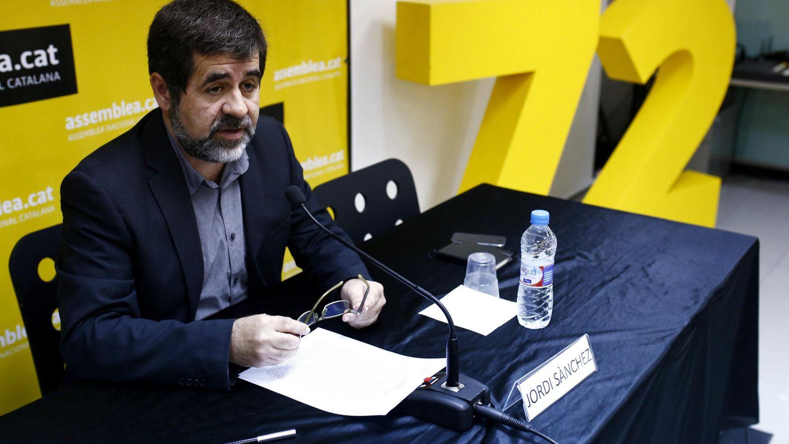 Foto: El presidente de la Asamblea Nacional Catalana (ANC), Jordi Sánchez. (EFE)