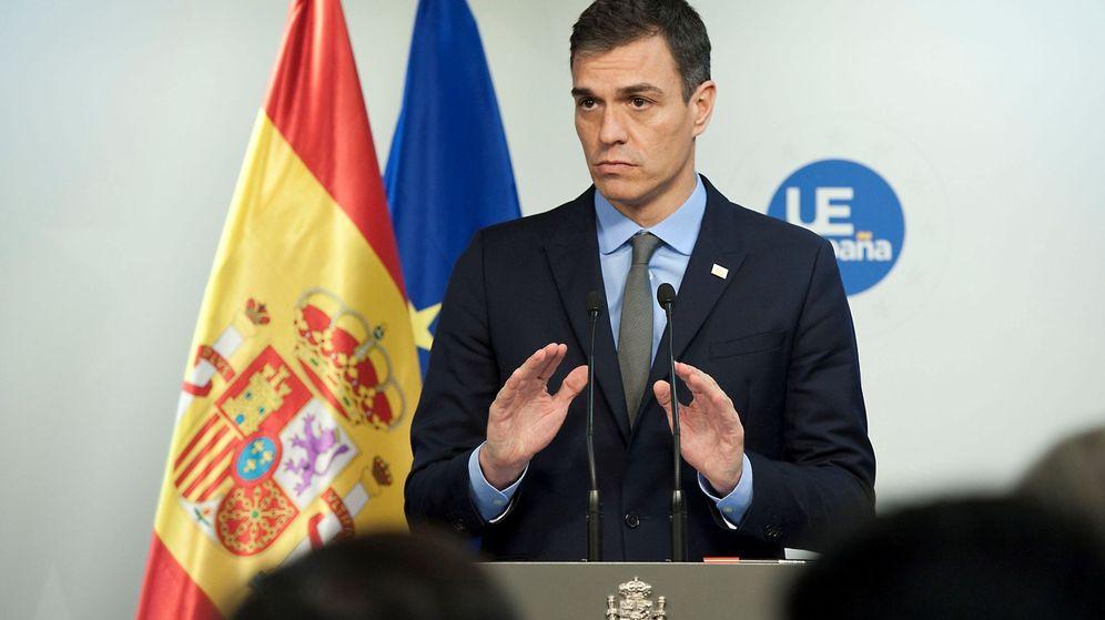 Foto: Sánchez, presidente del Gobierno, tras un Consejo Europeo. (EFE)