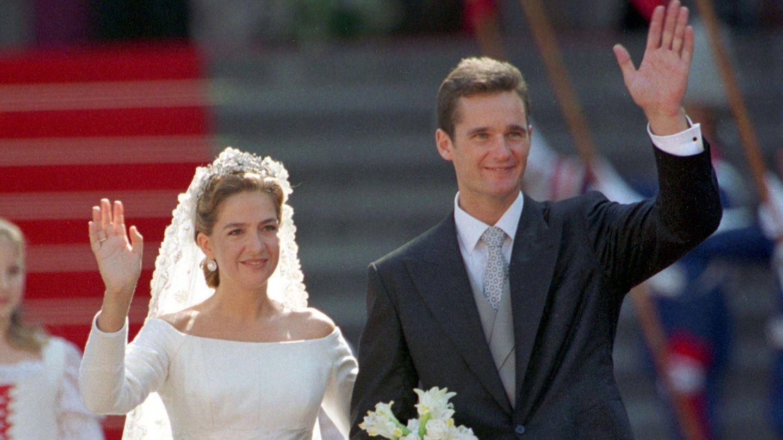 La infanta Cristina e Iñaki Urdangarin, en una imagen de su boda. (Cordon Press)