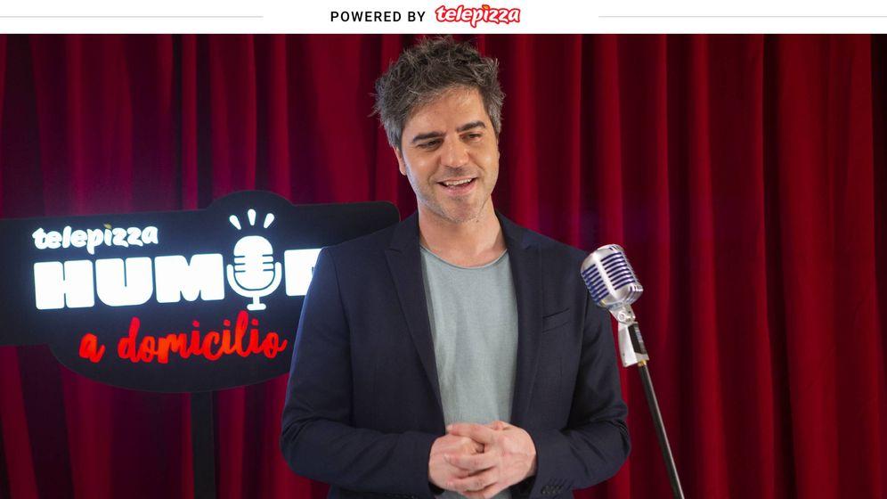 Foto: Ernesto Sevilla en la segunda entrega de Humor a Domicilio de Telepizza. (Telepizza)
