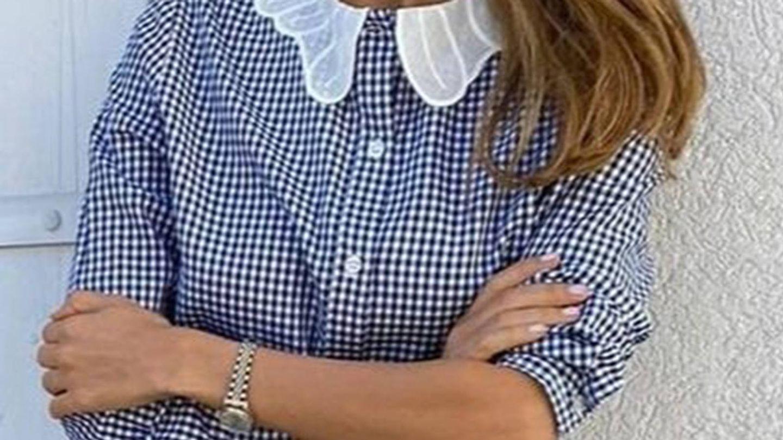 Camisa de María de la Orden en azul. (Cortesía)
