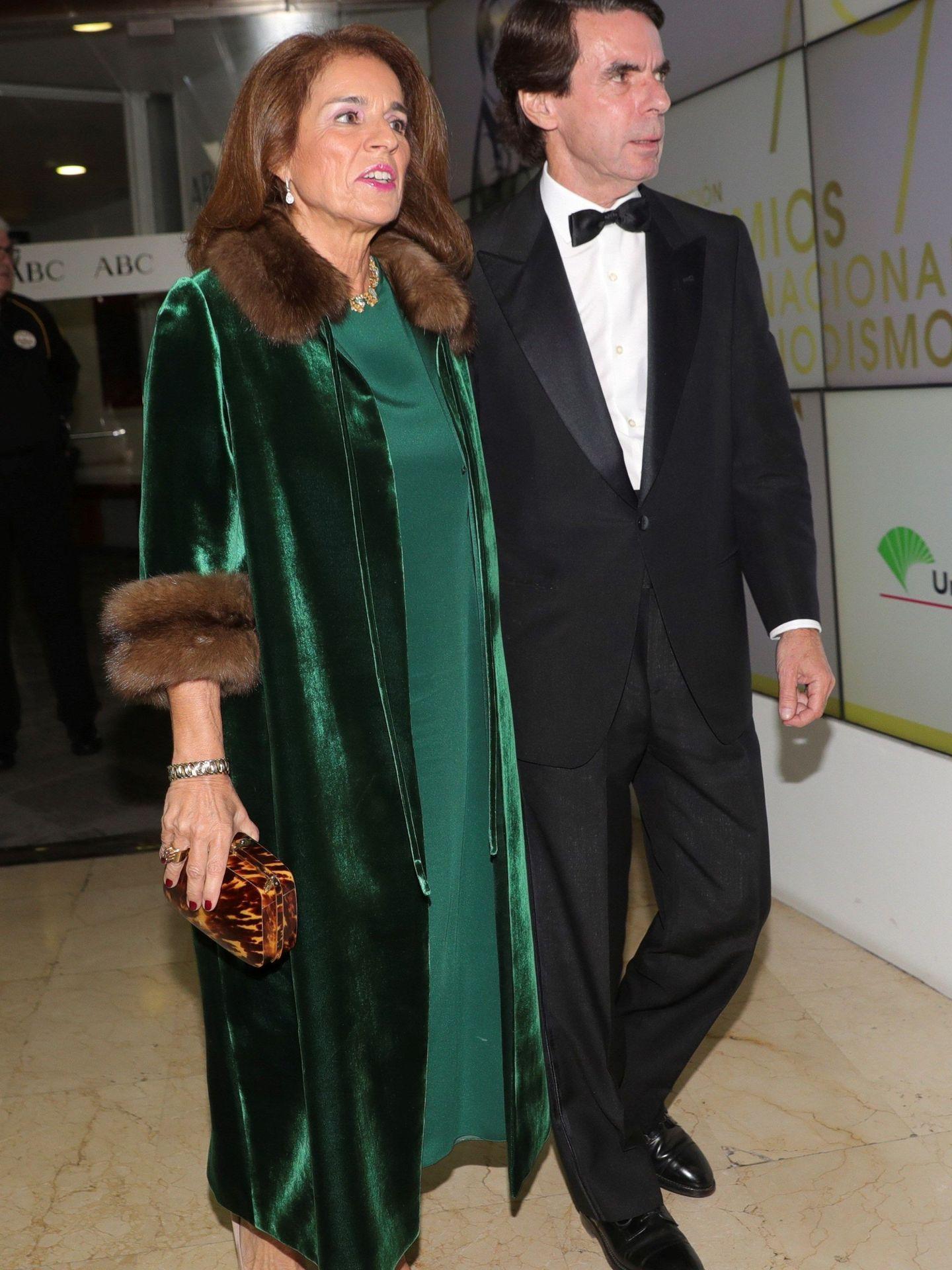 José María Aznar y Ana Botella, en una imagen de archivo. (EFE)