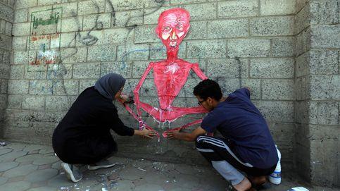 Grafitis como protesta contra el conflicto en Yemen