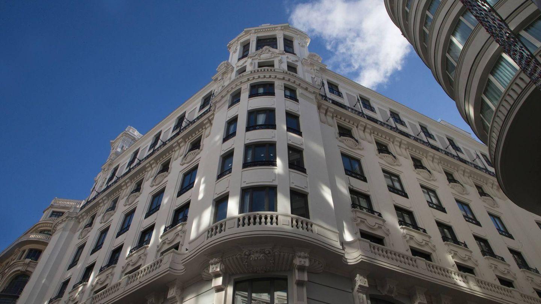 La espectacular fachada del hotel. (Foto:  José Martín)