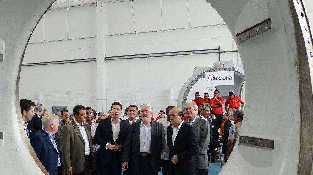 Foto: Foto de la inauguración de la primera planta de componentes eólicos en Brasil de Acciona Windpower. (EFE)