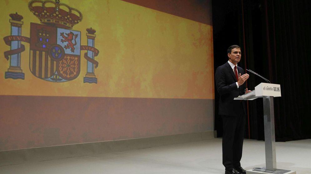 Foto: Pedro Sánchez en su acto de presentación como candidato del PSOE a las elecciones generales. (EFE)