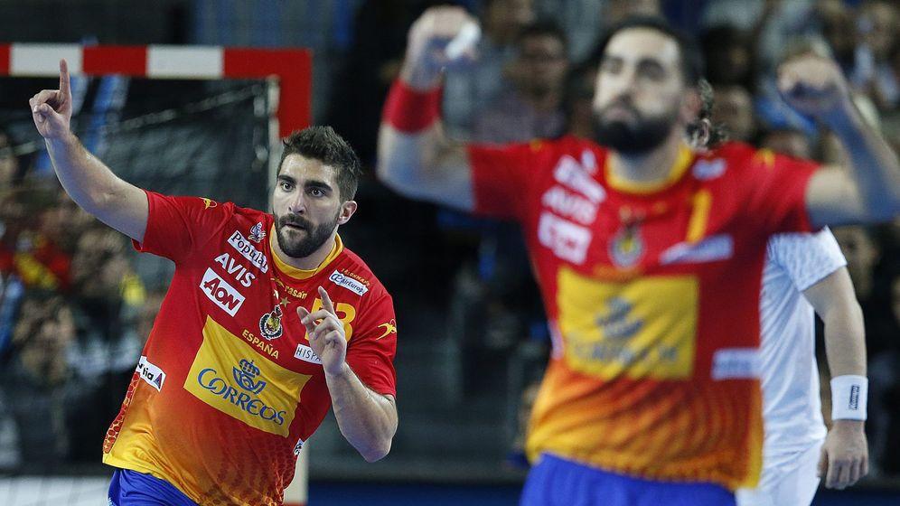 Foto: El equipo español en el Campeonato Mundial de Balonmano. (EFE)