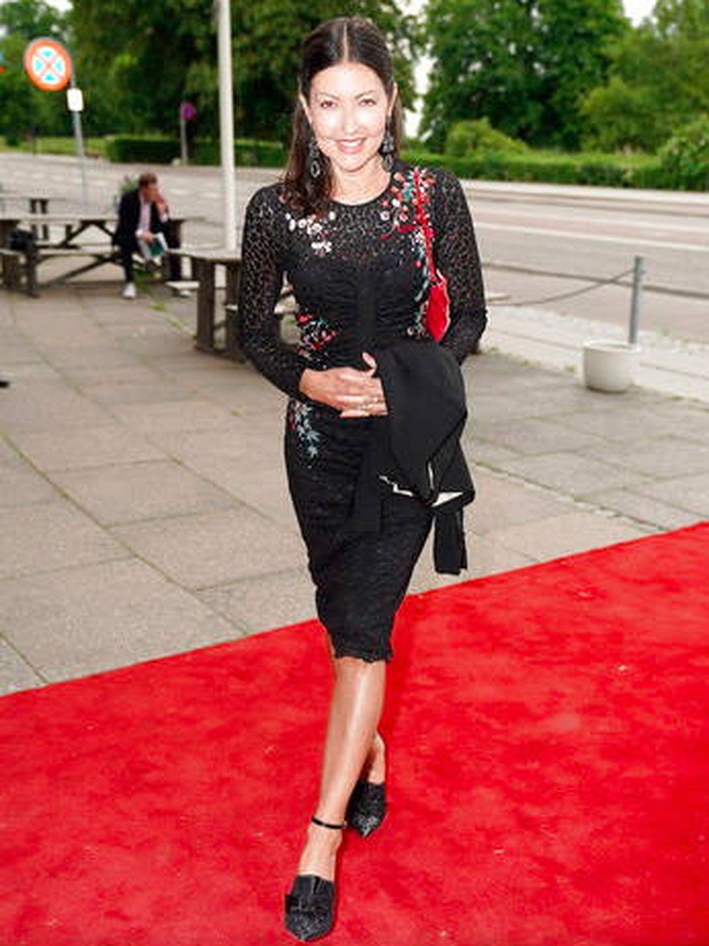 Alexandra Manley, en el 50º cumpleaños del príncipe Joaquín. (Casa Real danesa)